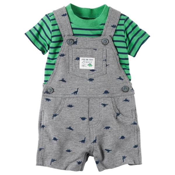 Baby Boys' 2-piece Tee & Shortalls Set