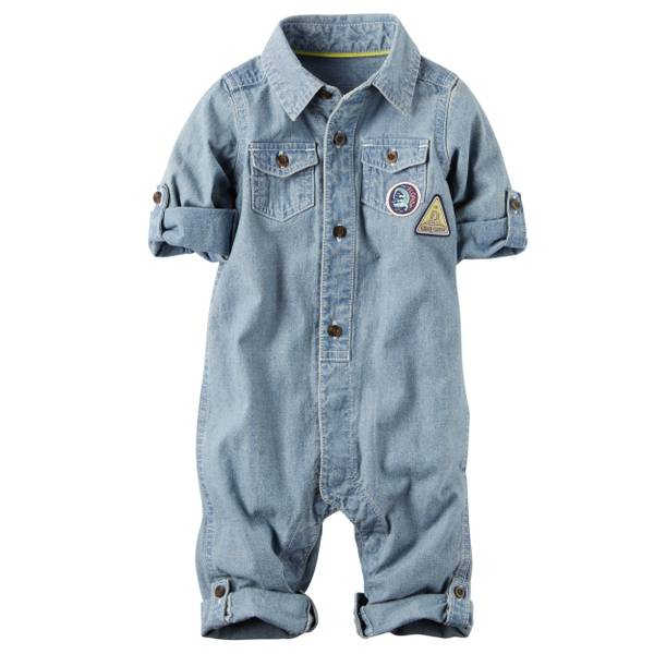 Baby Boys' Chambray Jumpsuit