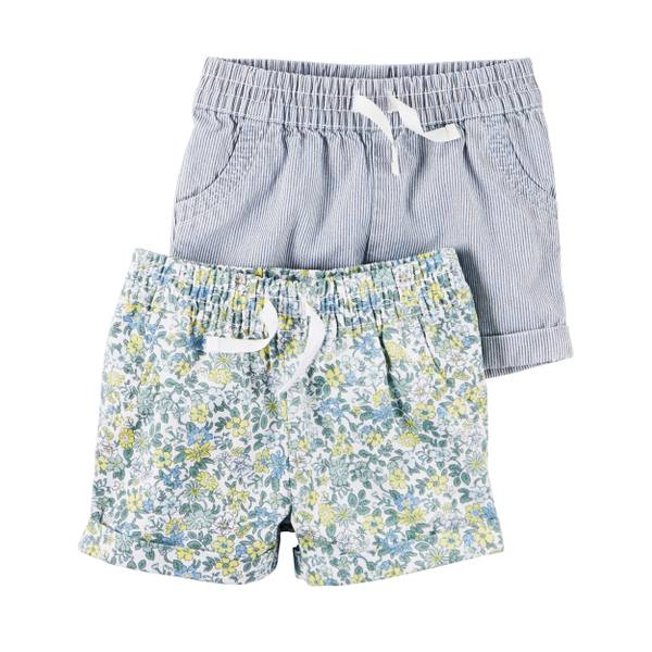 Baby Girls' 2-pack Shorts Set