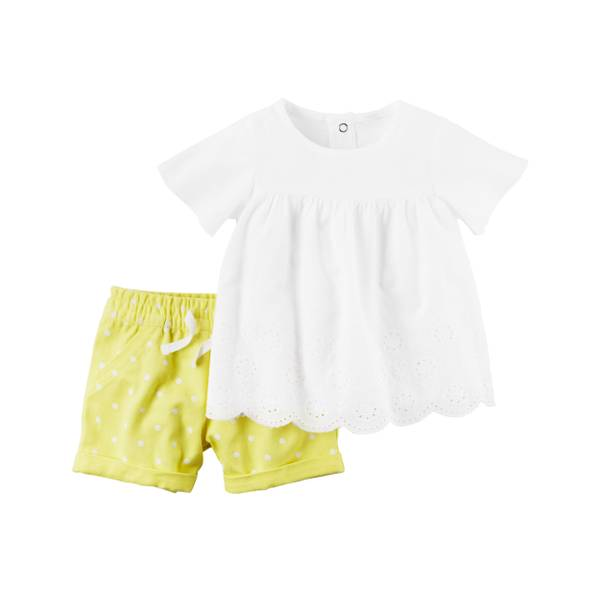 Baby Girls' 2-piece Top & Shorts Set