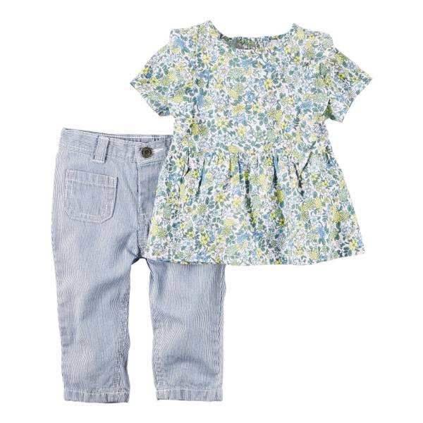 Baby Girls' 2-piece Top & Pant Set