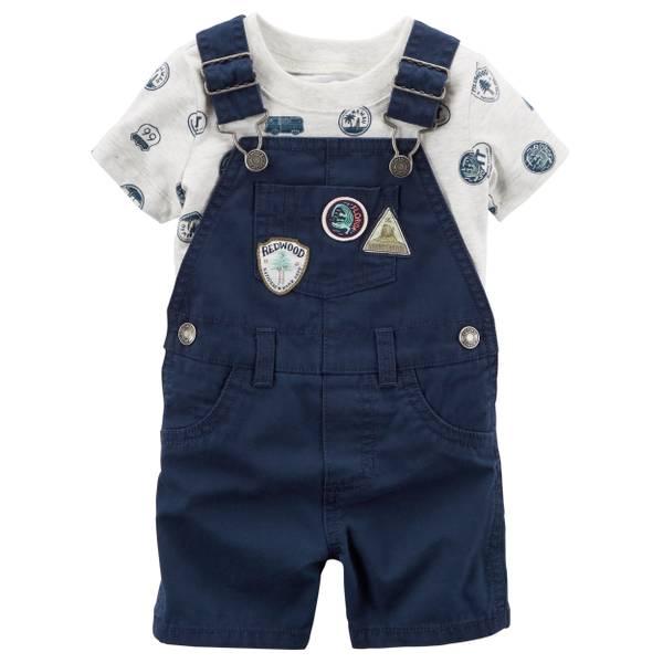 Baby Boys' 2-piece Tee and Shortalls Set