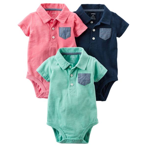 Baby Boys' 3-pack Polo Bodysuits
