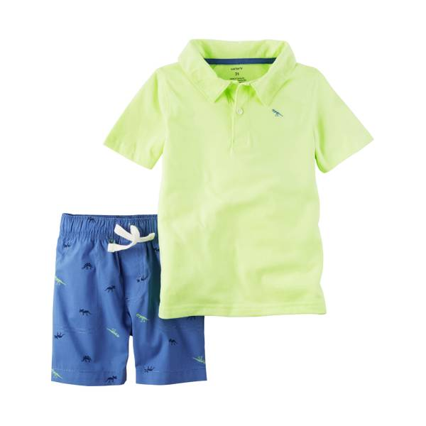 Baby Boys' 2-piece Polo & Shorts Set