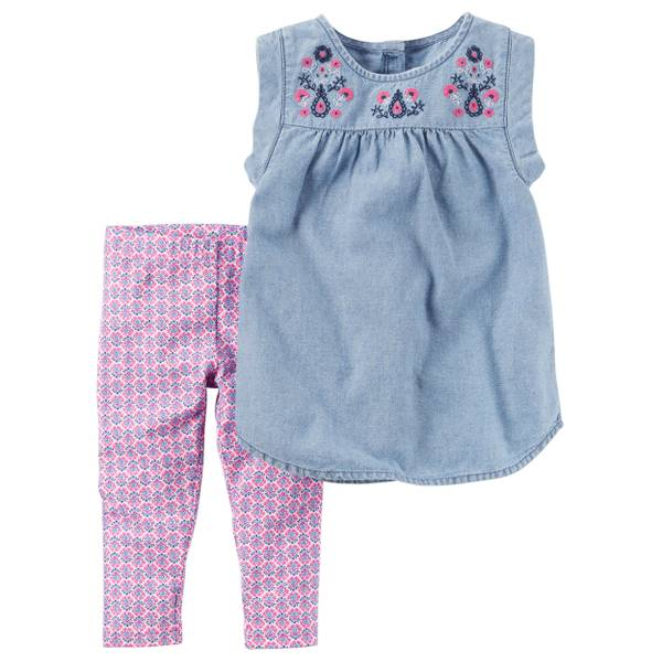 Baby Girls' 2-piece Tunic & Pant Set