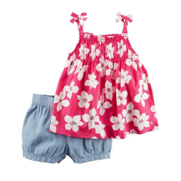 Baby Girls' 2-piece Tank & Shorts Set