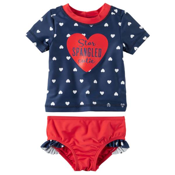 Baby Girls' 2-piece Americana Swim Set