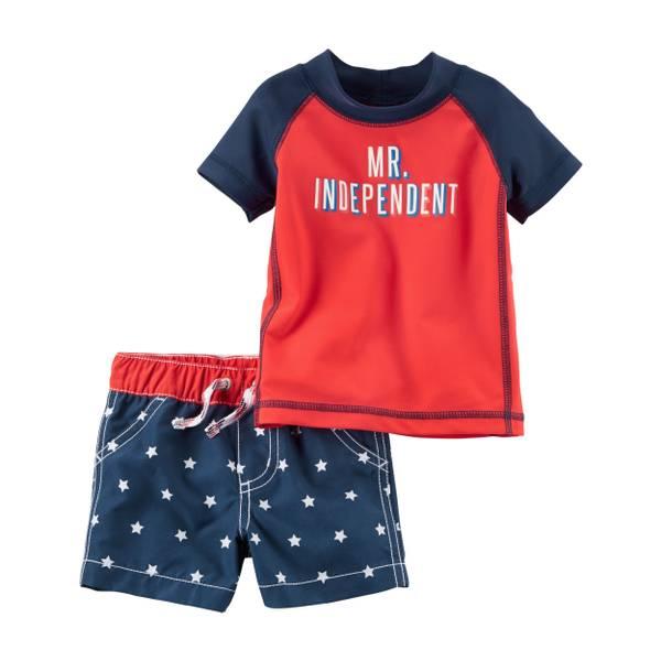 Baby Boys' 2-piece Americana Swim Set