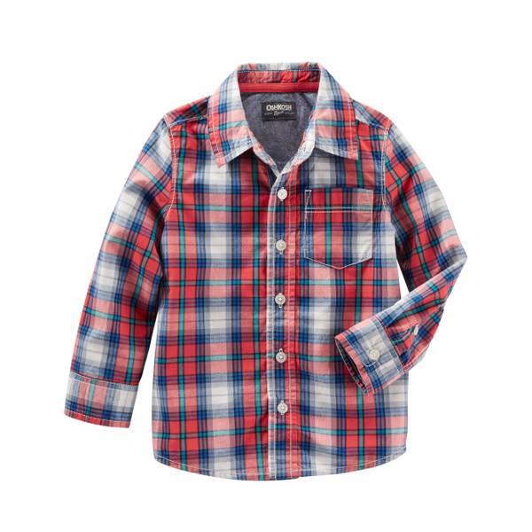 Boys' Long Sleeve Button Front Shirt