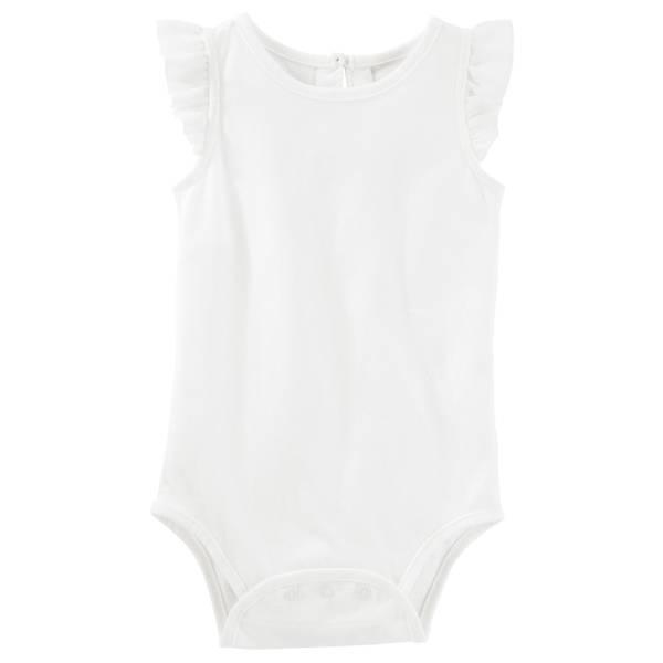 Baby Girls' Chiffon Ruffle Bodysuit