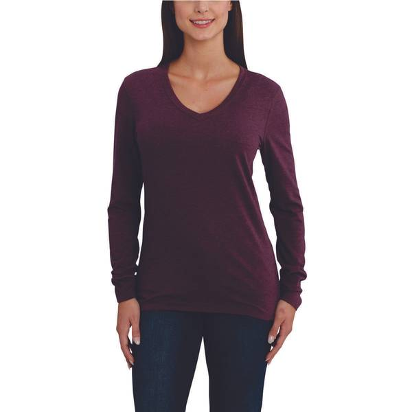 7eb54721d40 Carhartt Women s Lockhart Long-Sleeve V-Neck T-Shirt