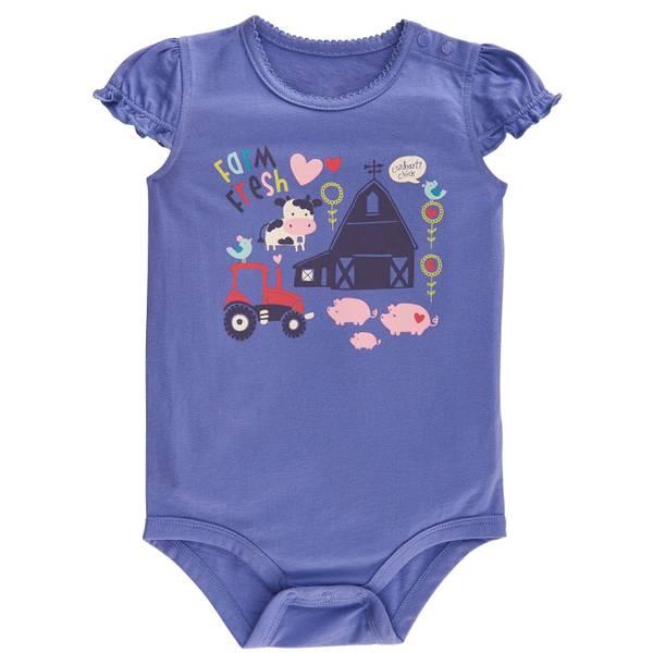Baby Girls' Flutter Sleeve Bodysuit