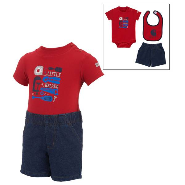 Baby Boys' 3-piece Outfit & Bib Set