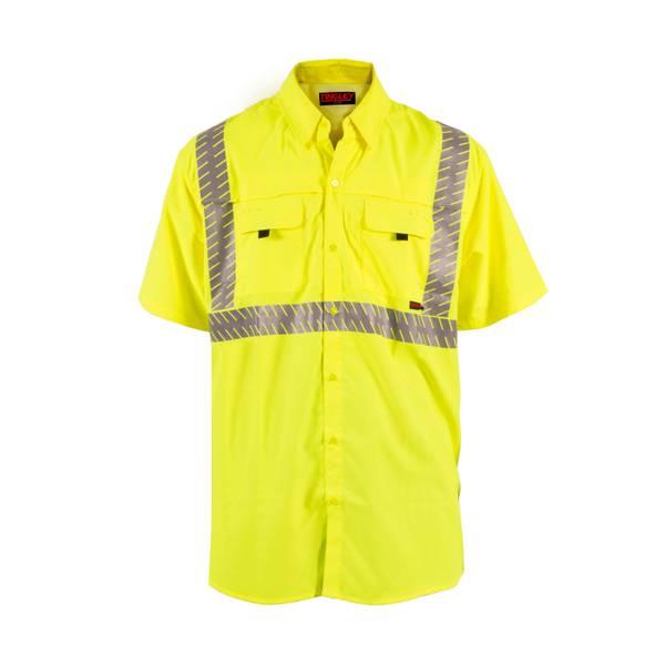 Men's ANSI/ISEA 107 Class 2 Hi-Vis Short Sleeve Shirt