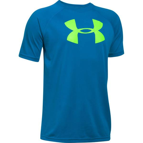 Big Boys' Short Sleeve UA Tech Big Logo Tee