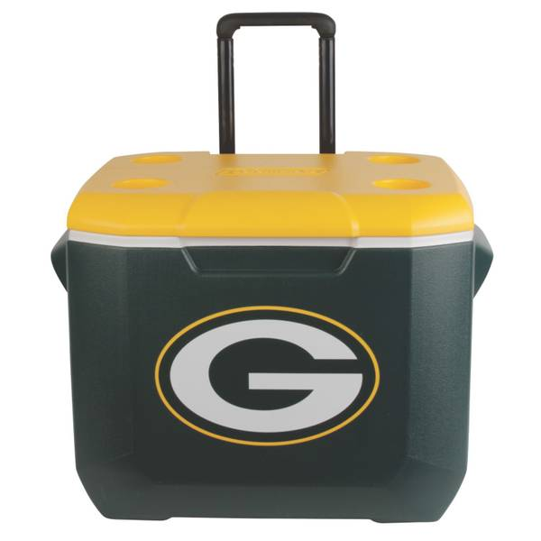60 Qt Wheeled Green Bay Packers Cooler
