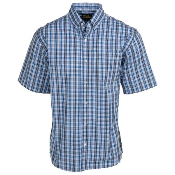 Men's Plaid Short Sleeve Button Down Shirt