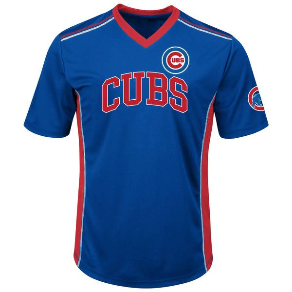 Men's Royal Blue Chicago Cubs Synthetic Vee Top