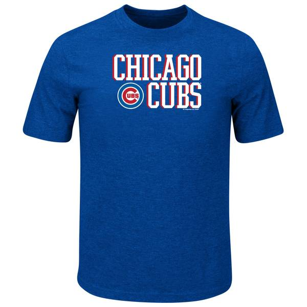 Men's Royal Heather Chicago Cubs T-Shirt