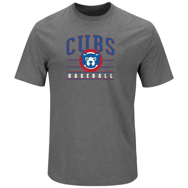 Men's Gray Chicago Cubs Crew Neck Tee