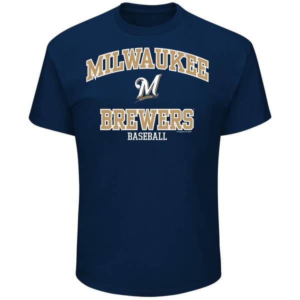 Brewers Short Sleeve Crew Neck Tee