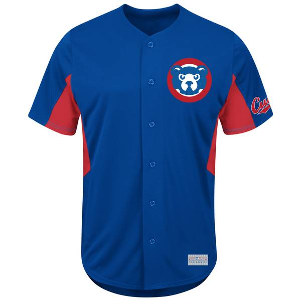 Men's Royal Blue Chicago Cubs Cooperstown Jersey Tee