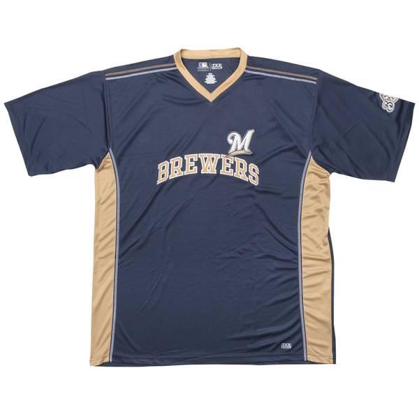 Big Men's Milwaukee Brewers Short Sleeve Shirt
