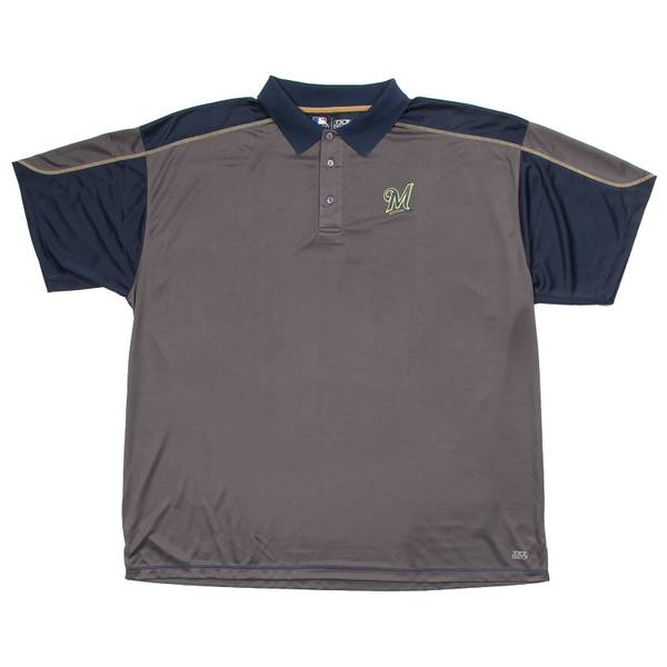 Brewers Short Sleeve Synthetic Polo