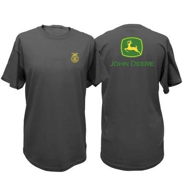 Men's John Deere Short Sleeve FFA Logo Tee Green