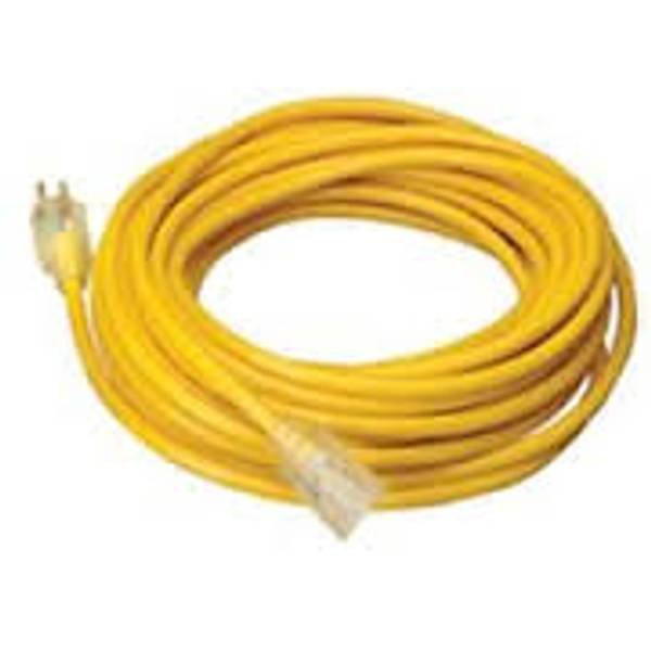 12/3 Yellow 25' Extension Cord