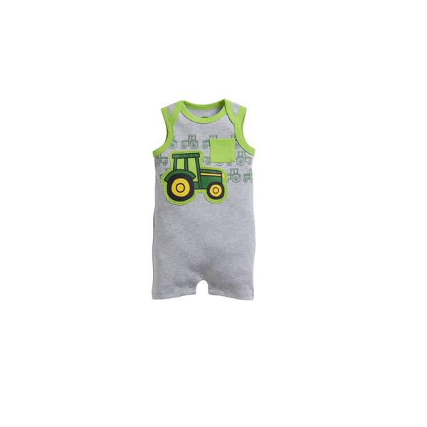 Baby Boys' Sleeveless Tractor Romper