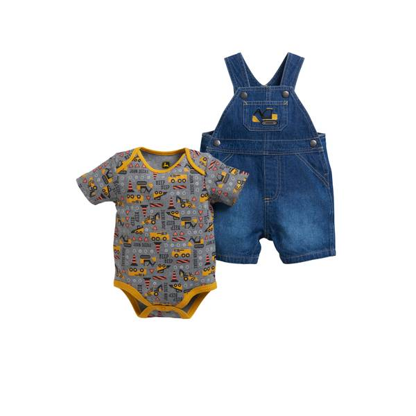 Baby Boys' Construction Shortall Set