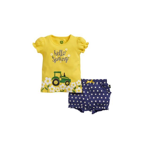 Baby Girls' Tee & Shorts Set