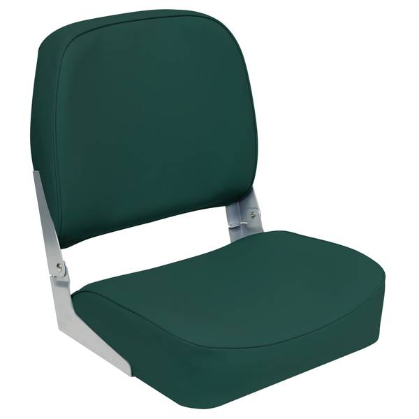 Green Low Back Fold Down Boat Seat