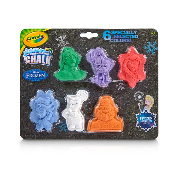 Crayola Washable Disney Frozen Chalk Shapes 6-Pack