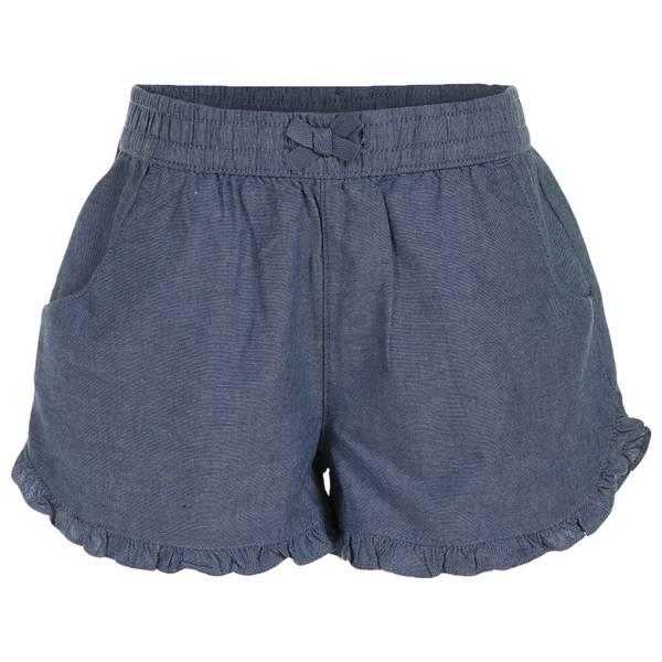 Little Girls' Chambray Ruffle Bottom Shorts