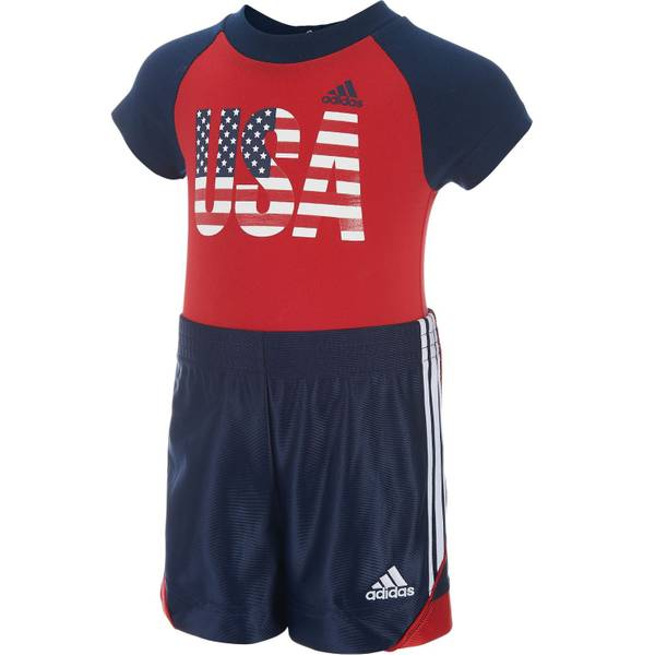 Baby Boys' Bodysuit & Shorts Set