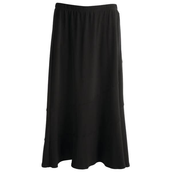 Women's Black Spliced Skirt