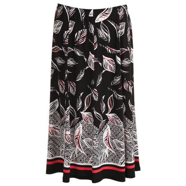 Women's Printed Leaf Border Skirt