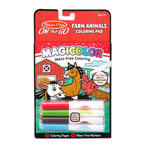Magicolor On the Go Farm Animals Coloring Pad