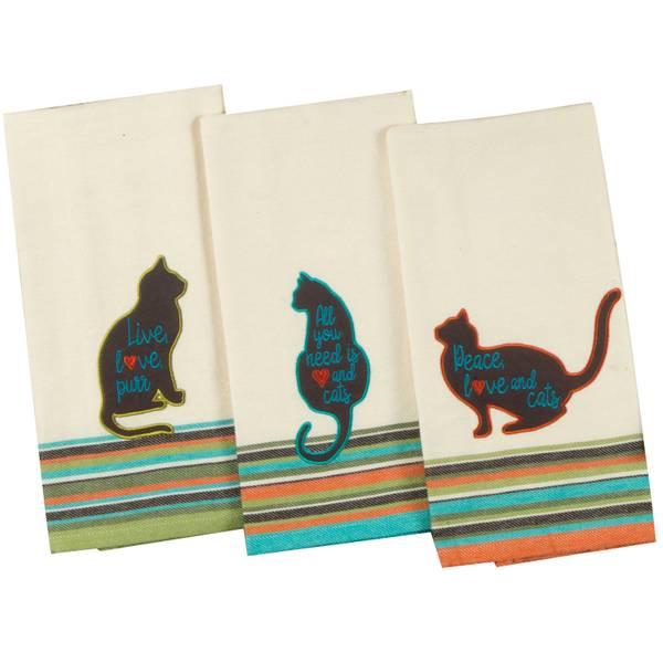 kay dee designs kitchen towels. Cat S Life Tea Towel Assortment Kay Dee Designs