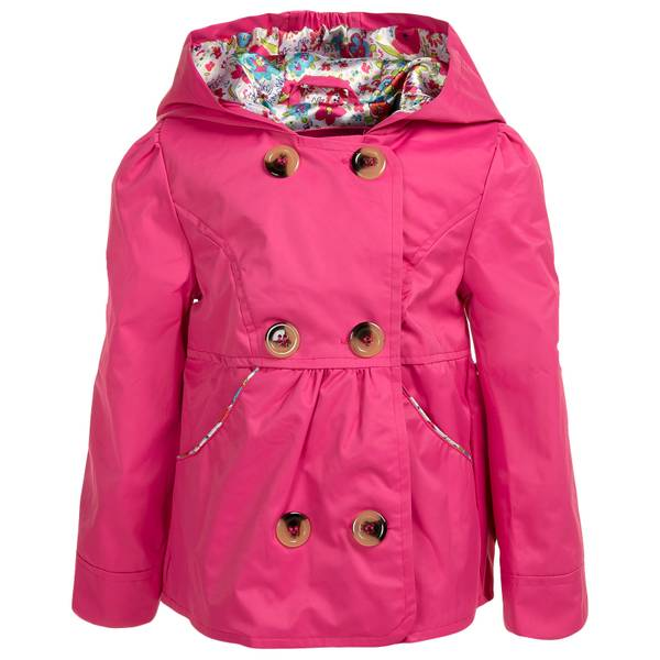 Baby Girls' Hooded Trench Coat