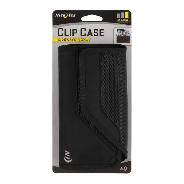 Black Sideways XXL Clip Case