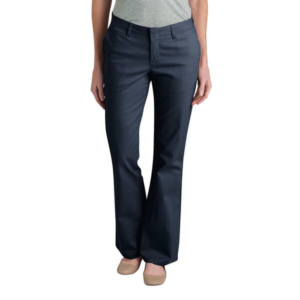 Women's Slim Boot Cut Flat-Fronted Stretch Twill Pants