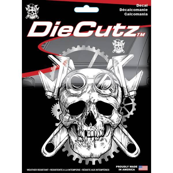 Steampunk Skull Die Cutz Decal