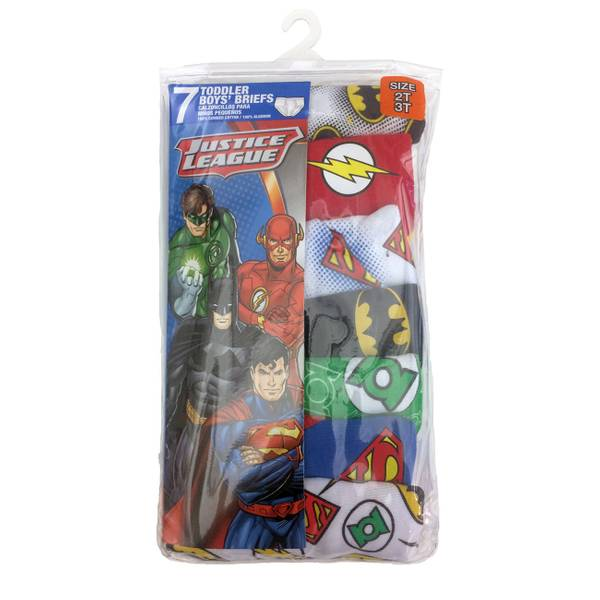 Toddler Boys' Justice League Briefs - 7 Pack