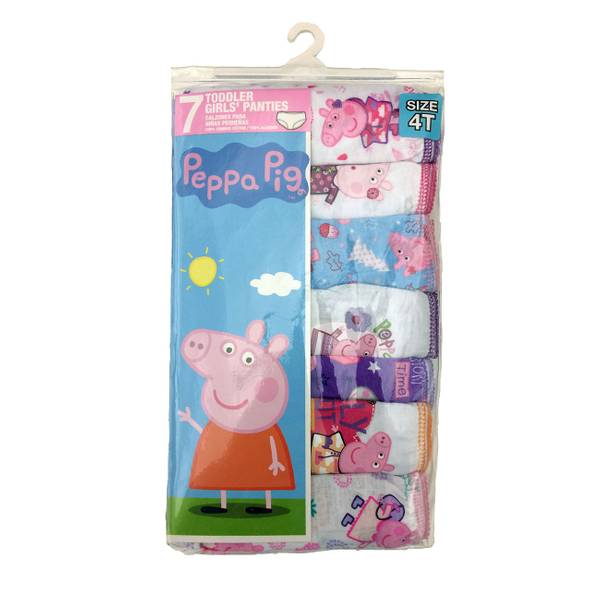 Toddler Girls' Peppa Pig Panties - 7 Pack
