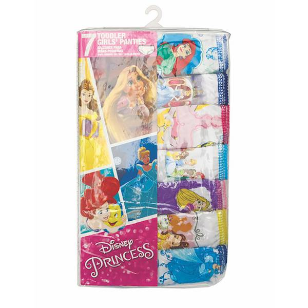 Toddler Girls' Disney Princesses Panties - 7 Pack