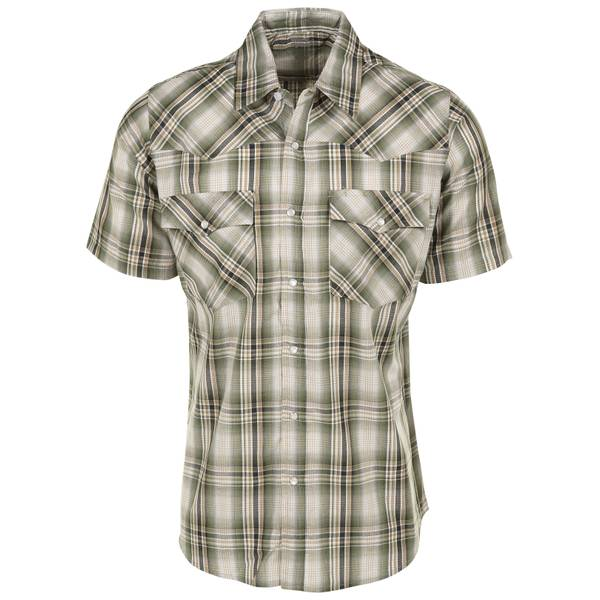 Big & Tall Men's No Stain Western Dobby Shirt