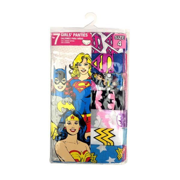 Girls' DC Heroes Panties 7-Pack